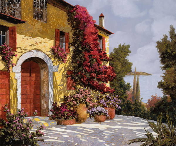 Bouganville Print featuring the painting Bouganville by Guido Borelli