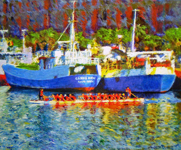 Boat Art Print featuring the painting Carpe Diem by Michael Durst