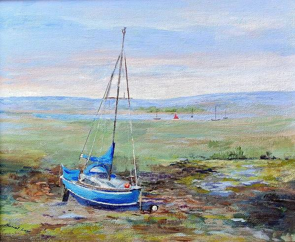 Boat Art Print featuring the painting Hayling Island. by Muriel Law