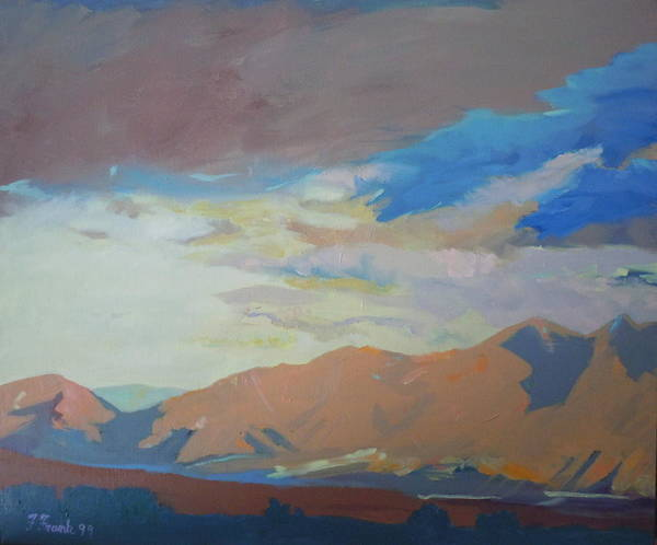 Landscape Art Print featuring the painting Montana Storm by Francine Frank
