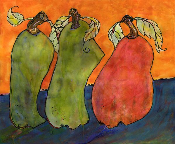 Art Print featuring the painting Pears Surrealism Art by Blenda Studio