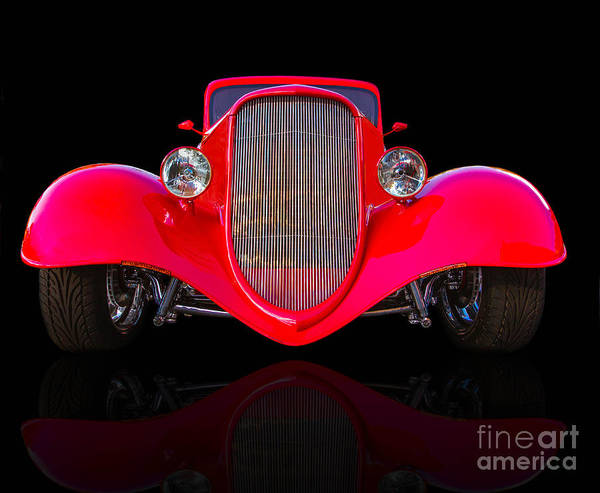Custom Art Print featuring the photograph Red Hot Rod by Jerry Fornarotto