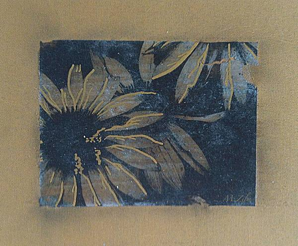 Flowers Art Print featuring the painting Sunlight In The Dark by Megan Washington