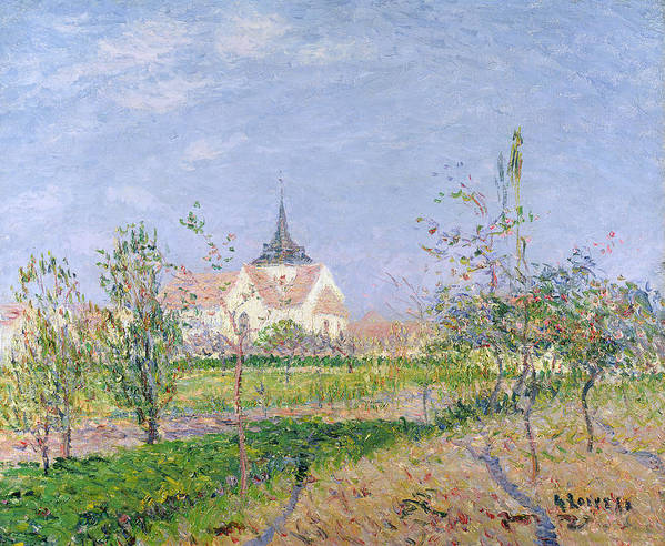 Impressionist Art Print featuring the painting The Church At Vaudreuil by Gustave Loiseau