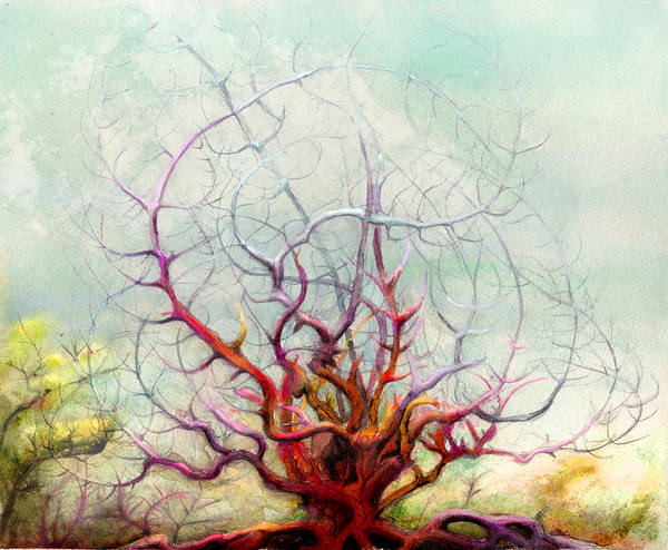 The Tree That Want Art Print featuring the digital art The Tree That Want by Bjorn Eek