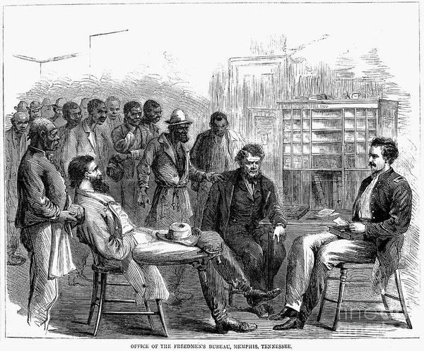 1866 Art Print featuring the photograph Freedmens Bureau, 1866 by Granger