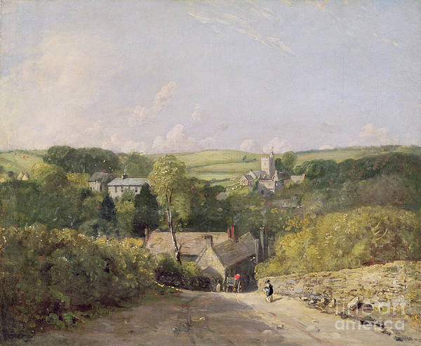 Xyc158030 Art Print featuring the photograph A View Of Osmington Village With The Church And Vicarage by John Constable