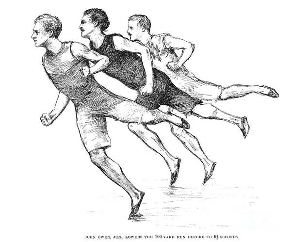 1890 Art Print featuring the photograph Athletics: Track, 1890 by Granger