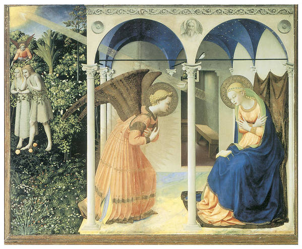 Fra Angelico Art Print featuring the painting The Annunciation by Fra Angelico