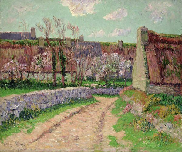Village In Clohars Art Print featuring the painting Village In Clohars by Henry Moret
