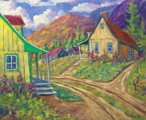 Art Art Print featuring the painting House Of Louis by Richard T Pranke