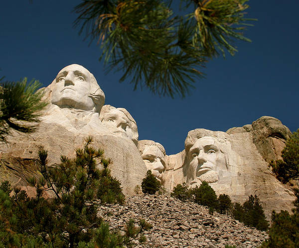 Mount Rushmore Art Print featuring the photograph Mt Rushmore II by Mike Oistad