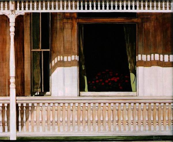 Porch Art Print featuring the painting 1850 by Keith Gantos