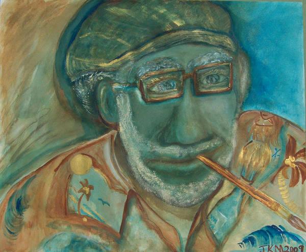 Artist Art Print featuring the painting Artist On Vacation by Jennifer K Machado