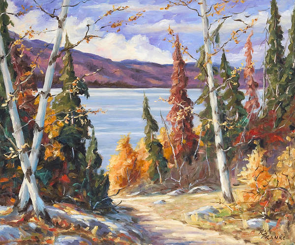 Art Art Print featuring the painting Automn Colors by Richard T Pranke