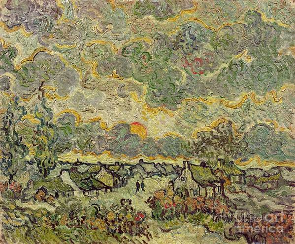 Autumn Art Print featuring the painting Autumn Landscape by Vincent Van Gogh