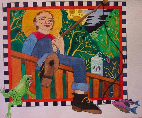 Children Art Print featuring the painting book illustration - Tom Sawyer by Victoria Heryet