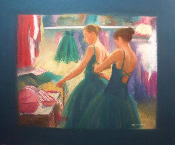 Ballet Dancers Art Print featuring the painting Channeling Degas by Diane Caudle