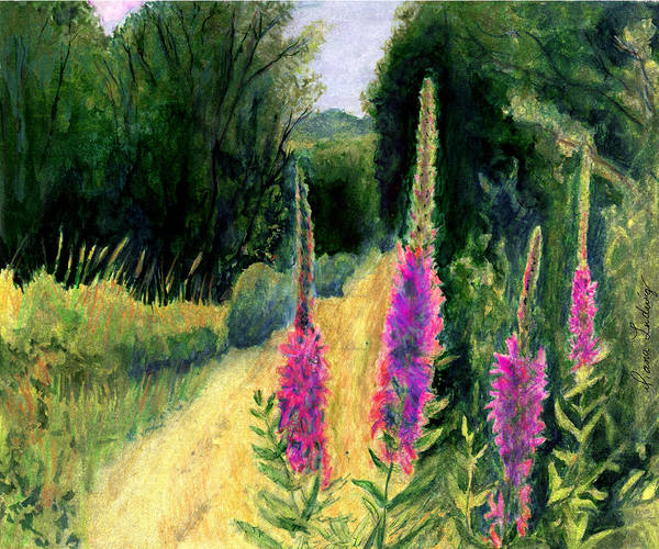 Loosestrife Art Print featuring the painting Crybaby Bridge On Egypt Road by Diana Ludwig