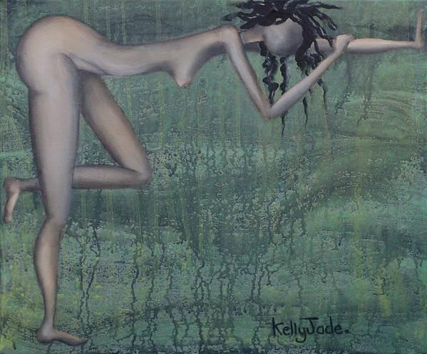 Earth Art Print featuring the painting Earth Woman by Kelly Jade King