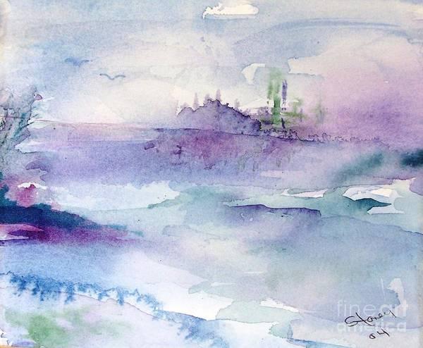 Art Print featuring the painting Enchanted Island by Sandi Stonebraker
