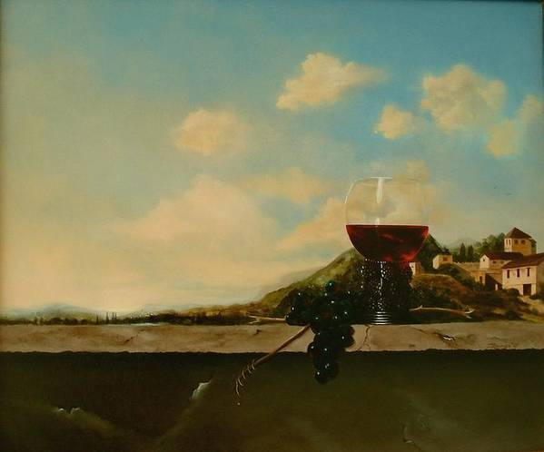 Roemer Art Print featuring the painting Florence by Tjerk Reijinga