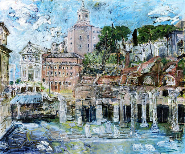 Italy Rome Art Print featuring the painting Forum Romanum by Joan De Bot