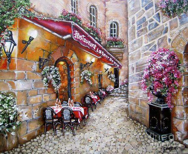 French Restaurant Art Print featuring the painting French Restaurant by Elizabeth Gomez