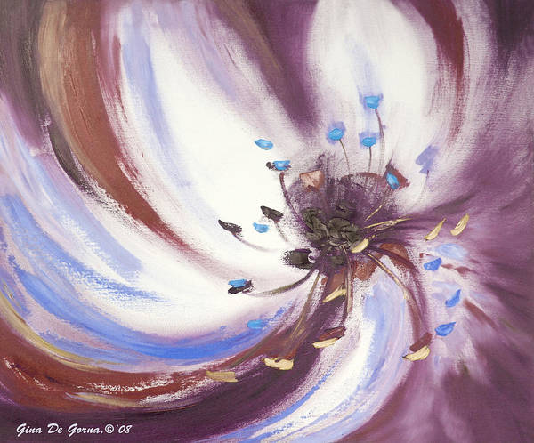 Brown Art Print featuring the painting From The Heart Of A Flower Brown 2 by Gina De Gorna