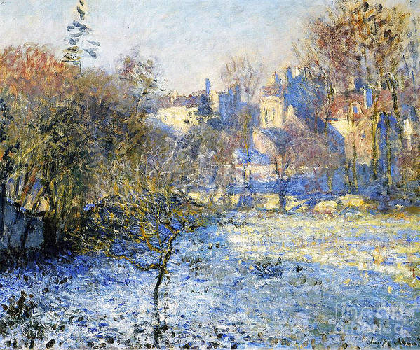 Frost Art Print featuring the painting Frost by Claude Monet