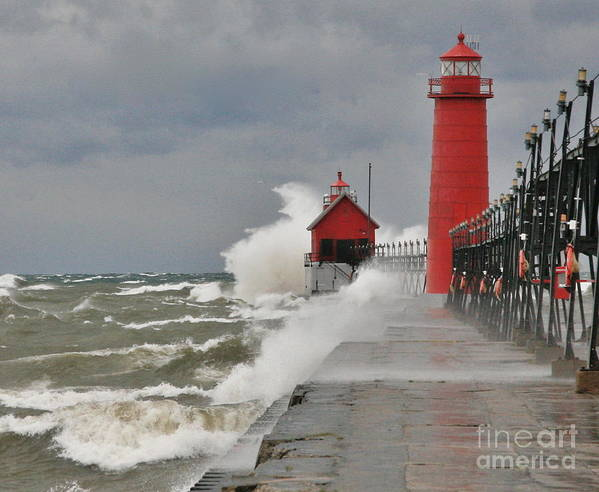 Light House Art Print featuring the photograph Gale Warnings by Robert Pearson
