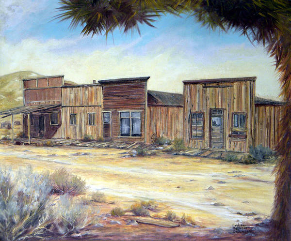 West Art Print featuring the painting Gold Point Nevada by Evelyne Boynton Grierson