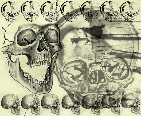 Halloween Art Print featuring the digital art Halloween In Grunge Style by Michal Boubin