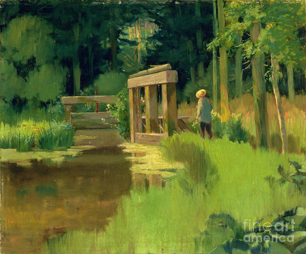 In A Park Art Print featuring the painting In A Park by Edouard Manet