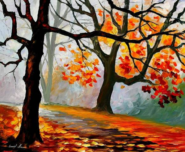 Landscape Art Print featuring the painting Interplacement by Leonid Afremov