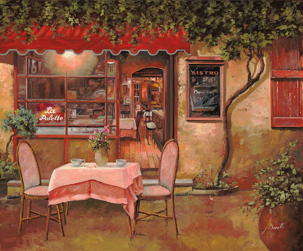Caffe Art Print featuring the painting La Palette by Guido Borelli