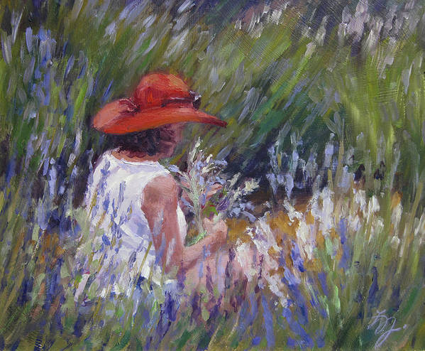 Figurative Painting Art Print featuring the painting Lavender Treasure by L Diane Johnson