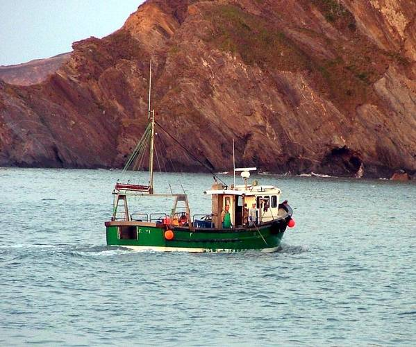 Boat Art Print featuring the photograph Lobster Fishing Boat by Mindy Newman