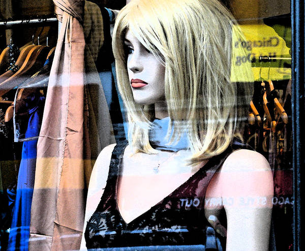 Modern Art Print featuring the photograph Mannequin Window 4 by Gary Everson
