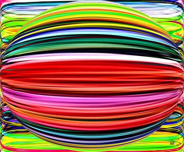 Abstract Art Print featuring the digital art Melon Mania by Will Borden