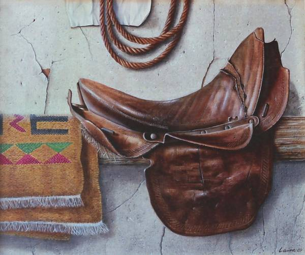 Realism Art Print featuring the painting Montura by Laine Garrido