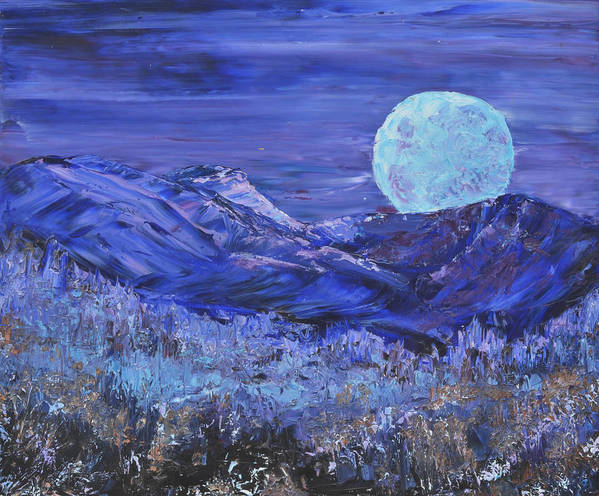 Full Moon Art Print featuring the painting Moonrise by Michael LaZar