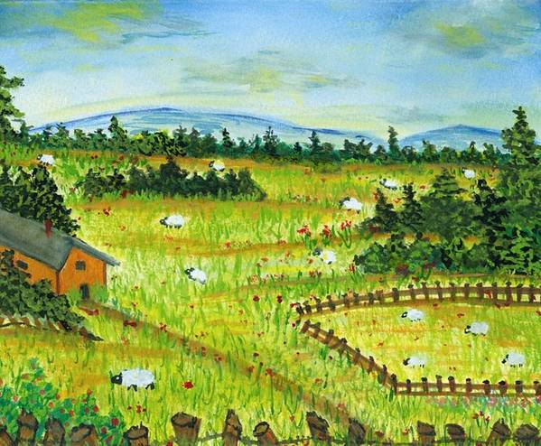 Scenery Art Print featuring the painting No Place Like Home by Katina Cote