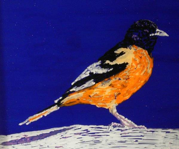 Oriole Art Print featuring the painting Oriole by Grant Van Driest