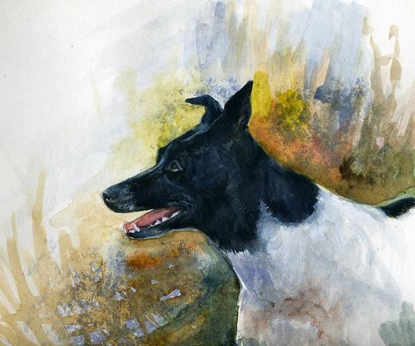 Animal Art Print featuring the painting Our Jack by Jimmie Trotter