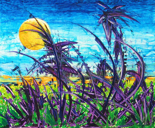 Landscape Art Print featuring the painting Patch Of Field Grass by Rollin Kocsis