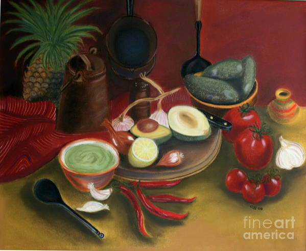 Epainting Art Print featuring the painting Pepare Dinner by Christiane Schulze Art And Photography