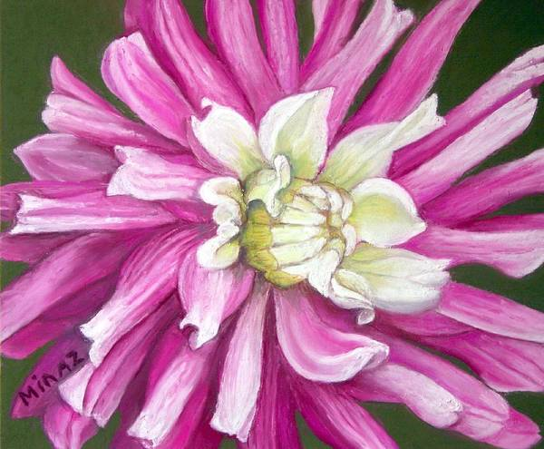 Floral Art Print featuring the painting Pink Petal Blast by Minaz Jantz