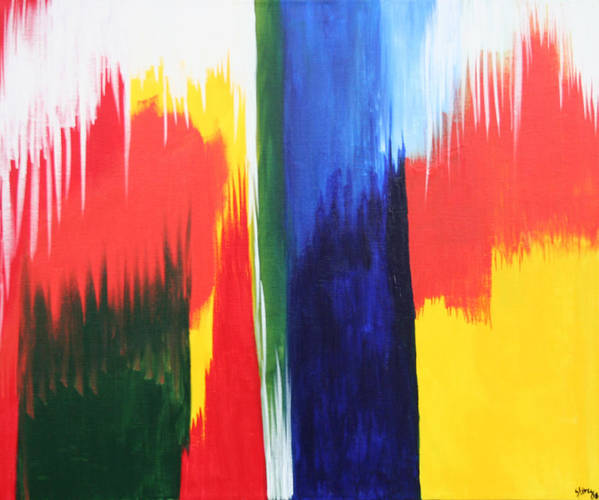 Primary Colors Art Print featuring the painting Primary Colors by Shiree Gilmore