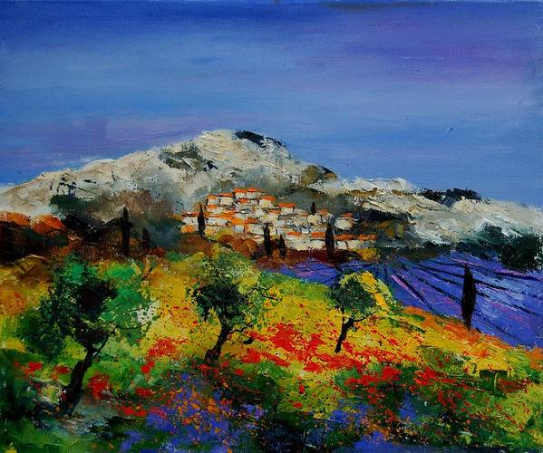 Provence Art Print featuring the painting Provence 569010 by Pol Ledent